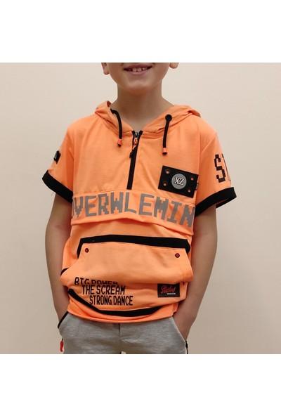 Beneti Erkek Çocuk Kapişonlu Reflektörlü Tişört