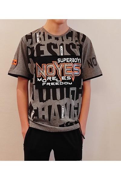 Beneti Erkek Çocuk Turuncu Neon Yazılı Tişört