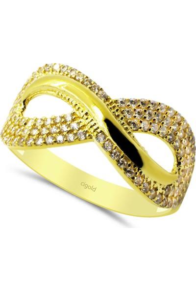 Cigold 14 Ayar Taşlı Fantezi Yüzük 20K1YZK0305015168