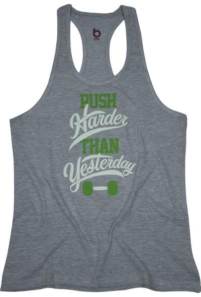 Bluu Fitness Gym Tank Top Sporcu Atleti Pushgri