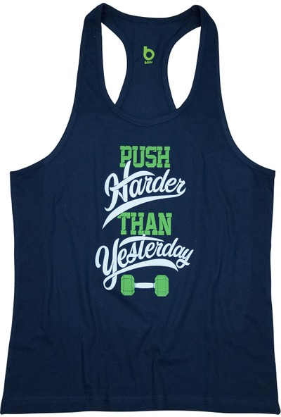 Bluu Fitness Gym Tank Top Sporcu Atleti Pushharder