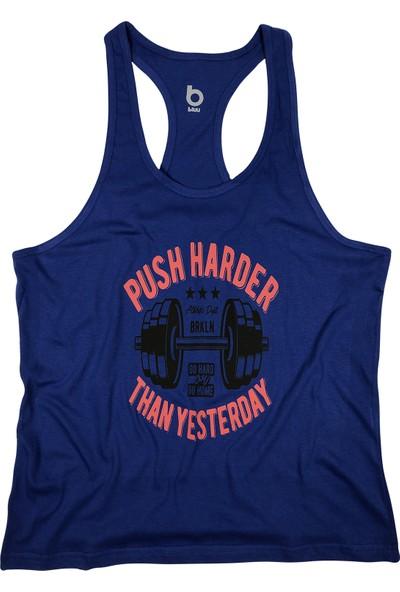 Bluu Fitness Gym Tank Top Sporcu Atleti 4113