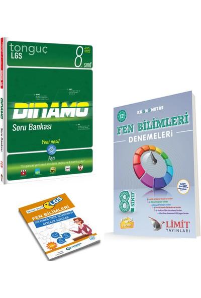 Tonguç 8. Sınıf Dinamo Fen Bilimleri Soru Bankası ve Limit Kronometre 12'li Fen Deneme + Yerim Seni LGS
