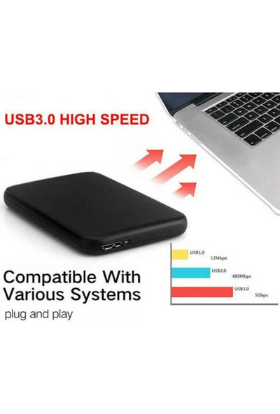 Wozlo 2.5 HDD Kutusu USB 3.0 Metal Harddisk Kutusu Micro USB 3.0 Giriş