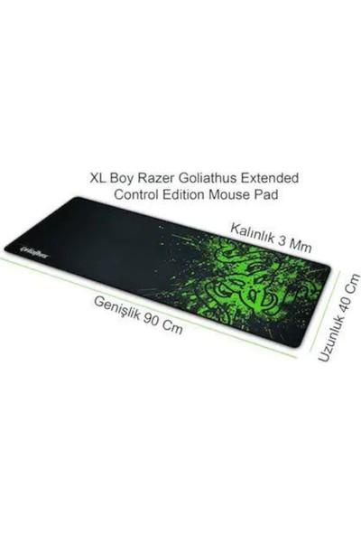 Razer Büyük Boy 90 x 40 cm Mousepad Kaymaz Dikişli Su Tutmaz