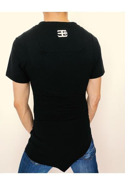 Fit and Size Erkek Düz Renk V Yaka Kısa Kollu Bambu T-Shirt
