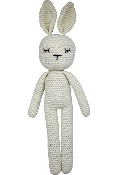 Bone Dea Sleeping Bunny Amigurumi Oyuncak - Beyaz