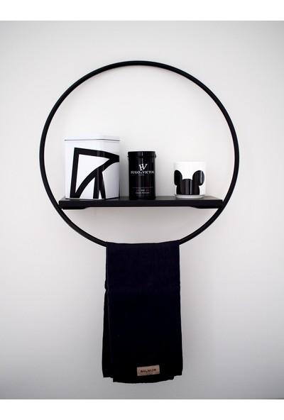 Abronya Metal Yuvarlak Tasarım Askılık Havlu Standı Banyo Aksesuarları