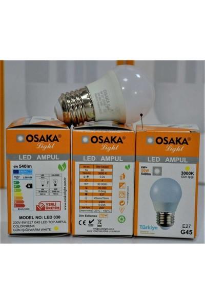 Osaka Light 6W E27 LED Top Ampul Günışığı 5li Paket