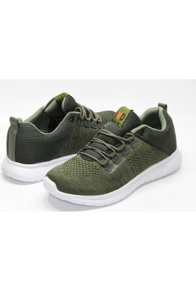 Bewild Günlük Yürüyüş Spor Ayakkabı Beyaz Tabanlı Yeşil