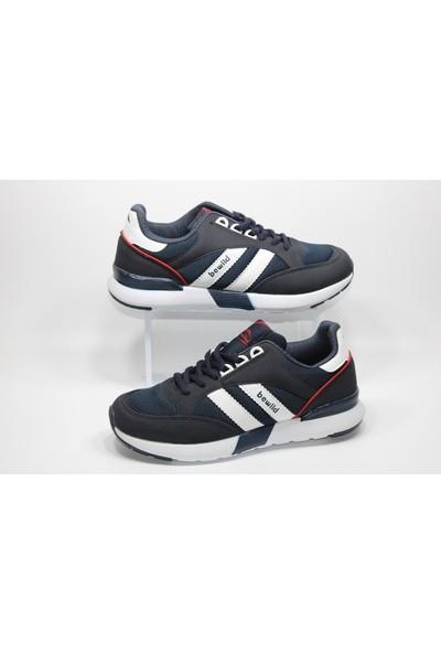 Bewild Günlük Yürüyüş Spor Ayakkabı Yanı Beyaz Çizgili