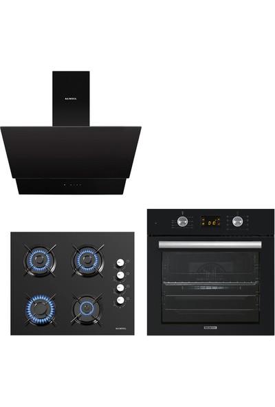 Kumtel Siyah Cam Dijital / Dokunmatik Ankastre Set - 8 Programlı ( Ko-40 Tahdf -B66 - Sf2 Ddt - DA6-835 )