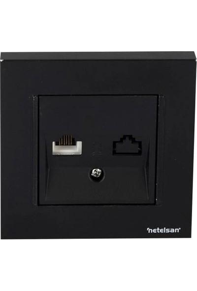Netelsan Telefon PRIZI(RJ11) Siyah