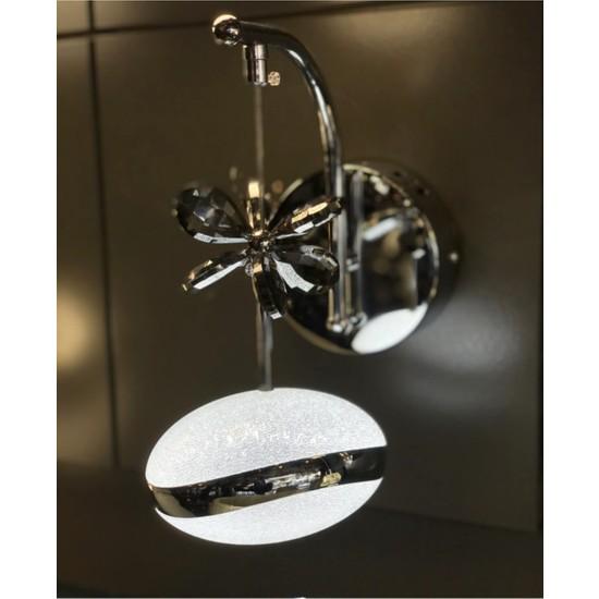 Burenze Elegance Luxury Tasarım Modern Duvar LED Aplik Krom BURENZE831