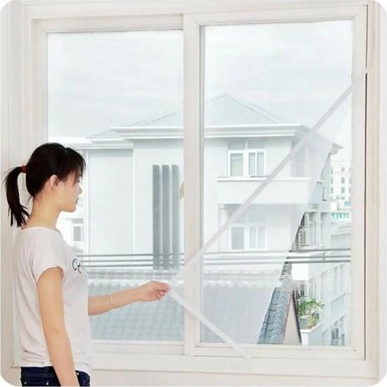 Sineklik Kesilebilir Pencere Sinekliği Cırt Bantlı Yapışkanlı 130 cm x 150 cm