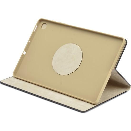 """Fibaks Samsung Galaxy Tab A7 T500 10.4"""" Tablet Kılıfı Yeni Nesil 360 Dönebilen Dışı Deri Içi Yumuşak Silikon Gold"""