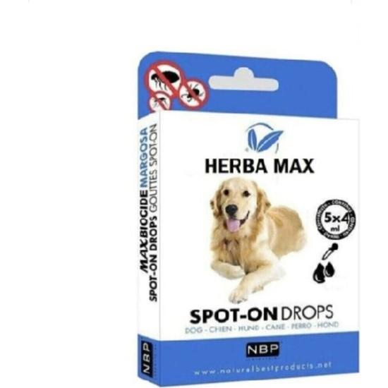 Herba Max Köpek Bit Pire Kene Önleyici Bitkisel Ense Damlası 5X4ML