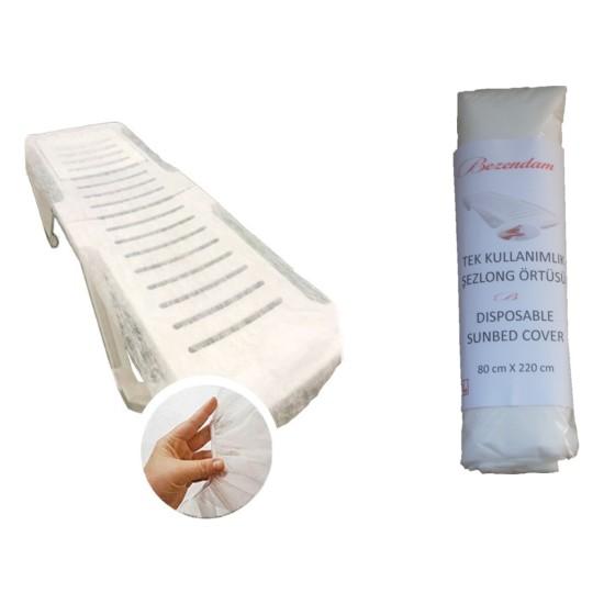 Bezendam Şezlong Örtüsü Lastikli Tek Kullanımlık Sunbed Cover
