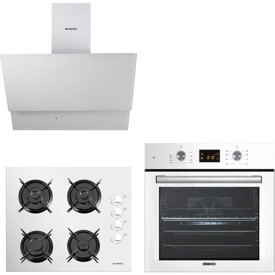 Kumtel Beyaz Cam Digital / Dokunmatik Ankastre Set - 8 Programlı ( Ko-40 Tahdf -B66 - Sf2 Ddt - DA6-835 )
