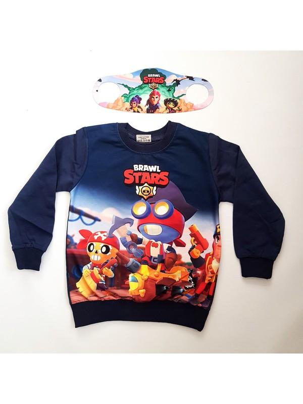 Brawl Stars Sweatshirt - Maske Hediyeli