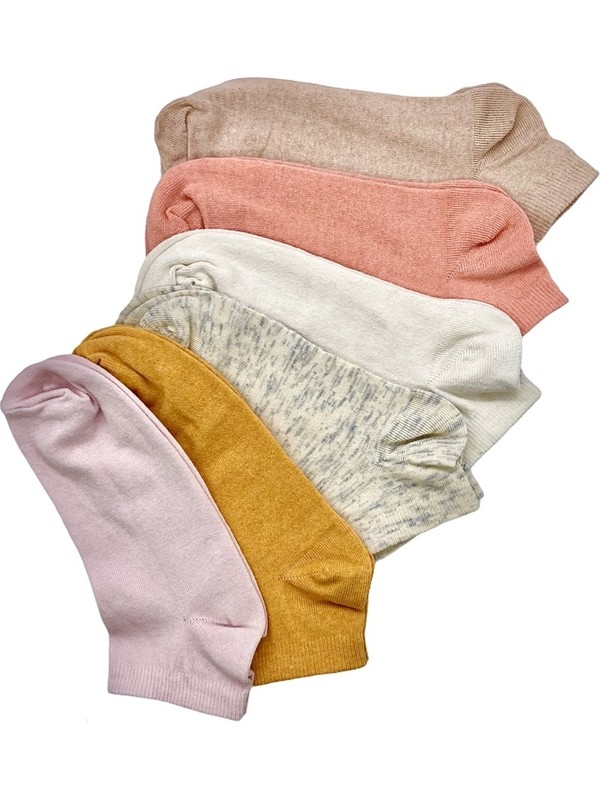 Black Arden Socks 6 Çift Ekonomik Karışık Renkli Kadın Patik Çorap BT-0165