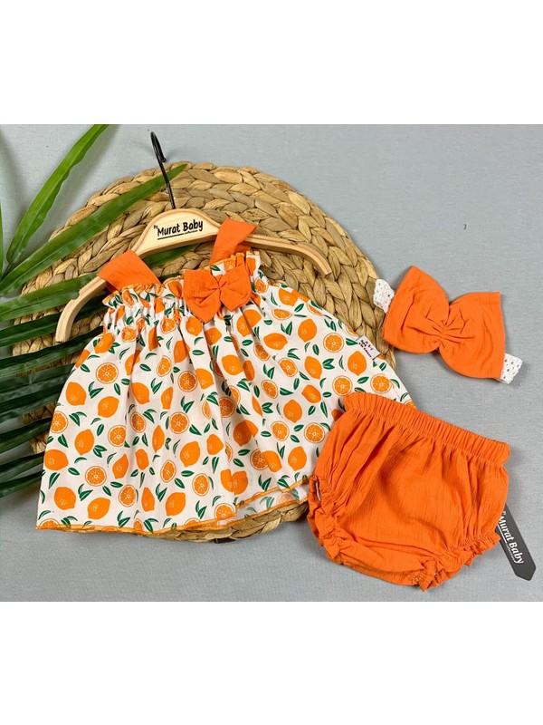Bebek Meyveli Elbise