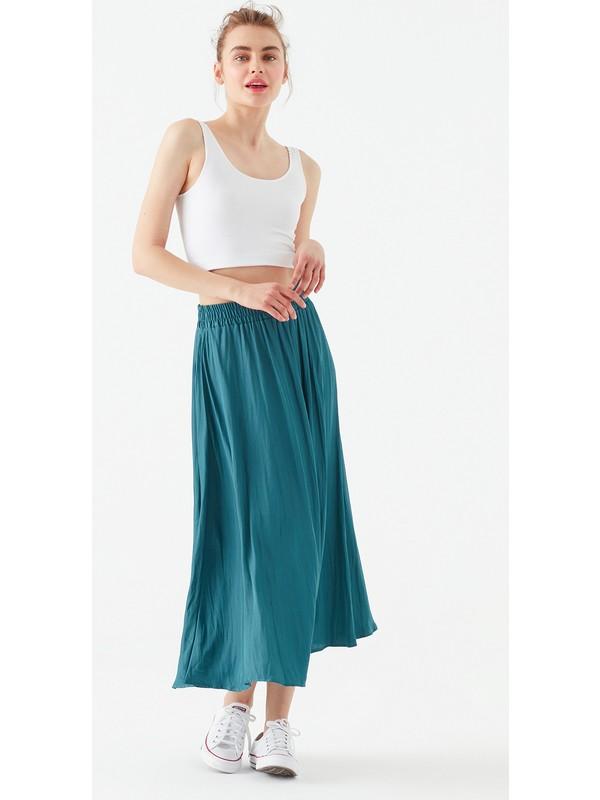 Mavi Kadın Pilili Yeşil Etek 131132-34120