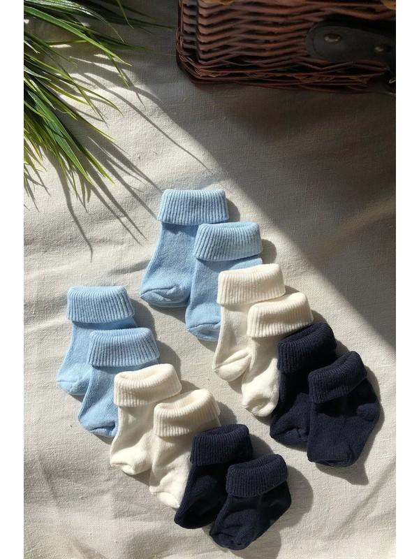 Trick or Treat 6'lı Paket Farklı Renklerde Pamuklu Erkek Bebek Çorap