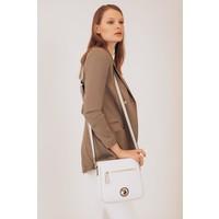 Smart Bags U.s. Polo Assn. US8707 Beyaz-A.gri Kadın Çapraz Çanta
