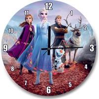 Cakatablo Frozen 2 Queen Elsa Anna Olaf Kristoff Kızıl Yaprak Duvar Saati