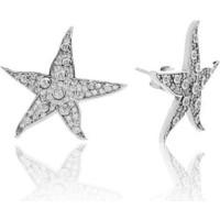 Glint Point Deniz Yıldızı Model Zirkon Taşlı Gümüş Küpe