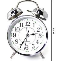 Zarifce Dükkan Gümüş Çalar Saat (Büyük Boy)