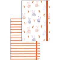 Matt Notebook A5 2'li Defter Seti 15 x 21 cm Noktalı Tavşan
