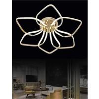 Burenze Luxury Modern Plafonyer LED Avize Gold Sarı Kademeli 3 Renk BURENZE871
