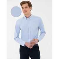 Pierre Cardin Açık Mavi Slim Fit Oxford Gömlek 50240386-VR003