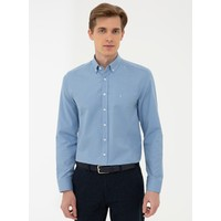 Pierre Cardin Koyu Mavi Slim Fit Oxford Gömlek 50240386-VR032