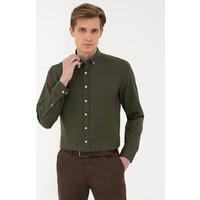 Pierre Cardin Haki Slim Fit Oxford Gömlek 50240386-VR027