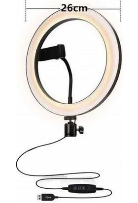 Renksan 10INÇ Ring Fill Light Tripodsuz Youtuber-Makyaj LED Işık