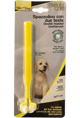 Gimdog Iki Başlı Köpek Diş Fırçası 17X3 cm