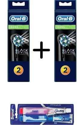 Oral-B Diş Fırçası Yedek Başlığı Cross Action Siyah * 2 Adet (Signal Ikili Seyahat Seti Hediyeli)