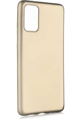 Nezih Case Samsung S20 Plus Uyumlu Soft Tasarım Yumuşak Silikon Kılıf Gold