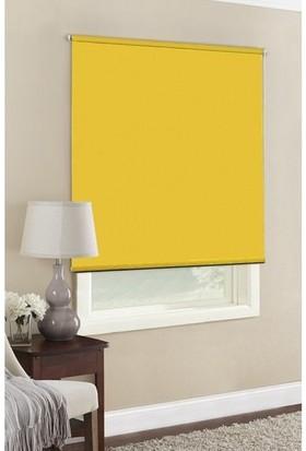 Güneş Perde Sarı Blackout Stor Perde