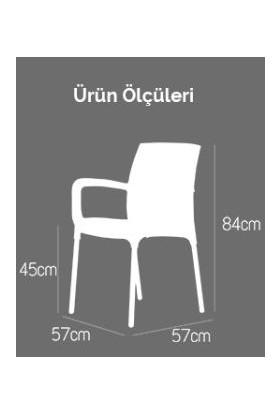 Novussi 6 Adet Novussi Sunset Rattan Kollu Sandalye Koltuk Beyaz