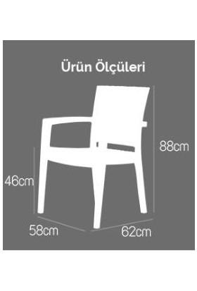 Rattan Capissi Zeugma Rattan Kollu Sandalye Koltuk Beyaz
