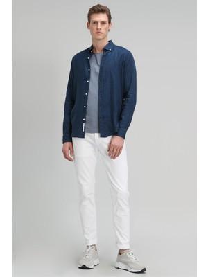 Lufian Marcus Spor 5 Cep Pantolon Slim Fit Beyaz
