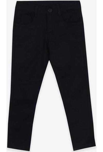 Terry Erkek Çocuk Gabardin Pantolon Siyah (4-14 Yaş)