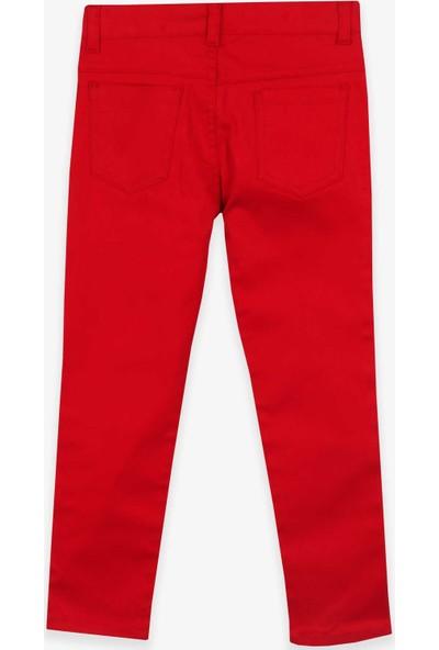 Terry Erkek Çocuk Gabardin Pantolon Kırmızı (5-14 Yaş)