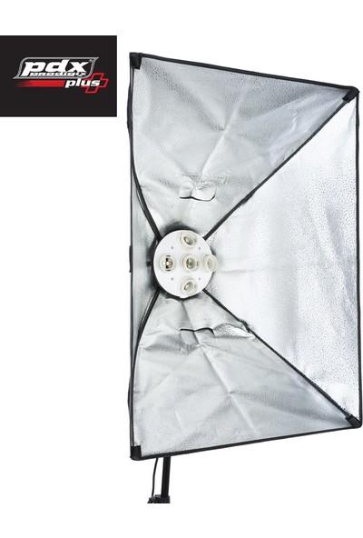 Pdx Softbox 5 Duylu 2li Kit Lambalı Sürekli Işık