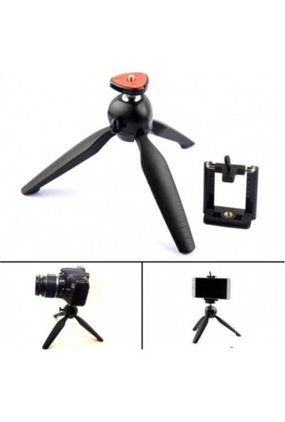 Blupple Mini Tripod Telefon Fotoğraf Makinesi Tutucu Video Selfie Tripot Siyah Küçük 12.5 cm