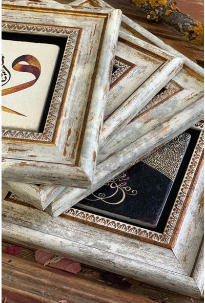 Oscar Stone Decor Çerçeveli Taş Duvar Dekoru 20 x 20 cm CDD-40-1126